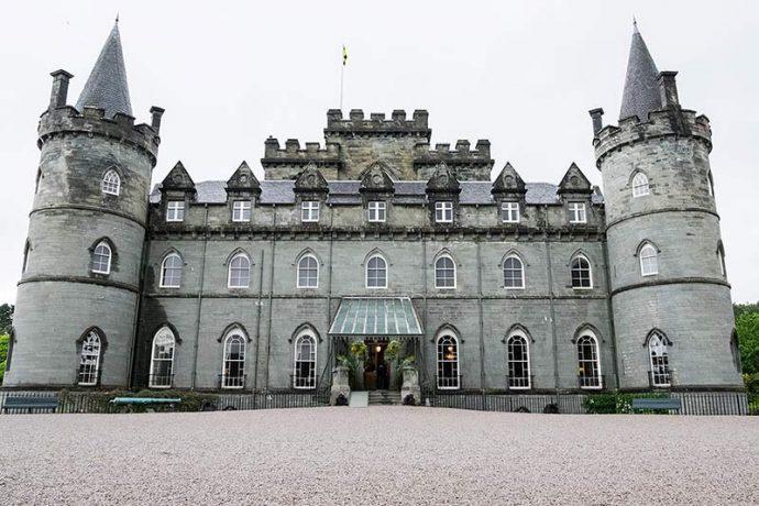 Outside Inveraray Castle