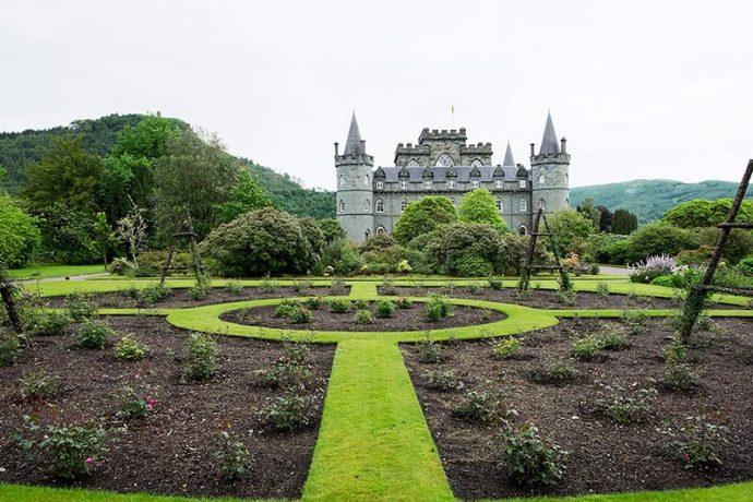 Landscaped gardens at Inveraray Castle