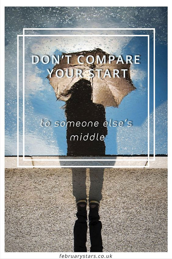 comparison is the thief of joy and if particularly unhelpful if you suffer from chronic illness