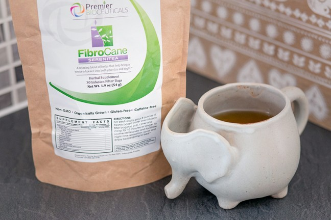 Fibrocane's serenitea can help fibromyalgia sufferers fall asleep more easily