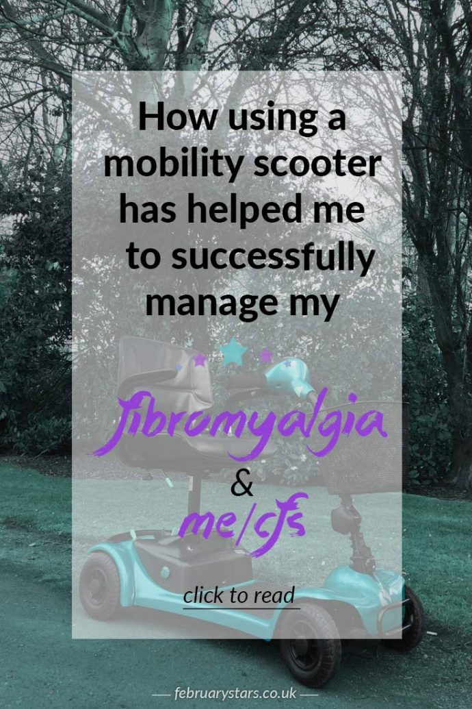 Using a wheelchair or mobility scooter when you have fibromyalgia or ME/CFS. Click to read or pin to save for later.