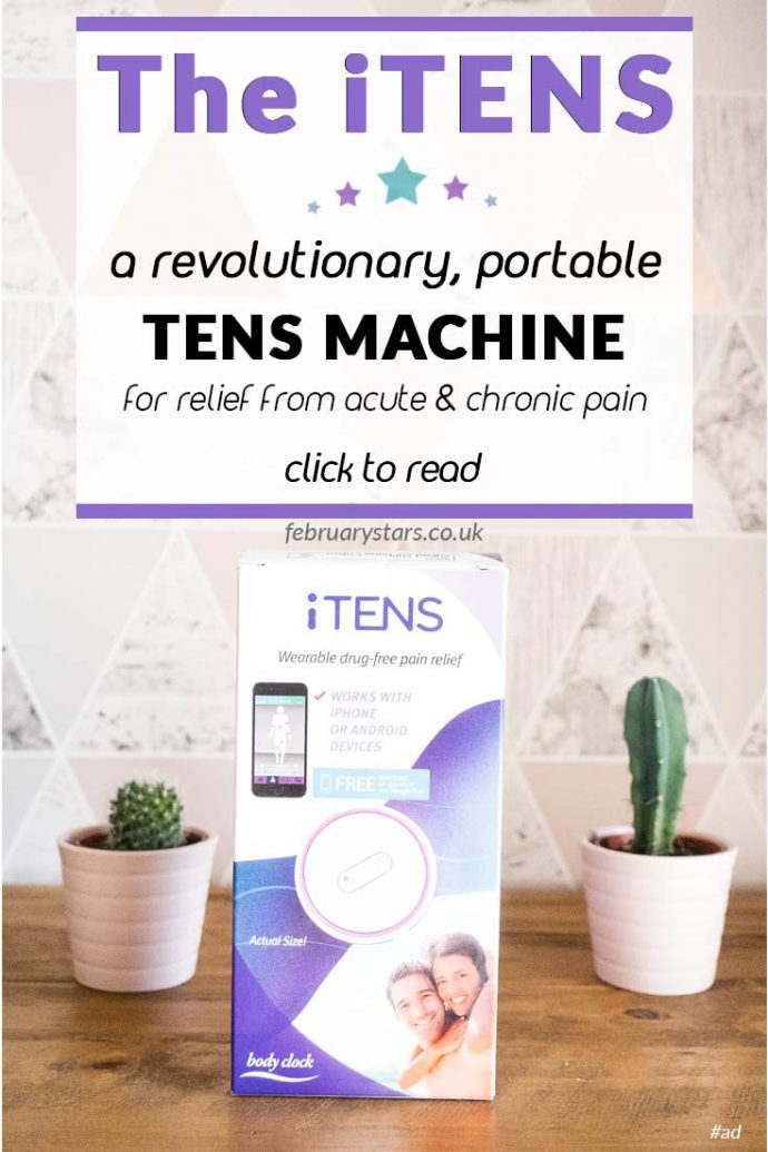 The iTENS is wearable pain relief. A portable TENS machine that helps to reduce pain. Click to read or pin to save for later.
