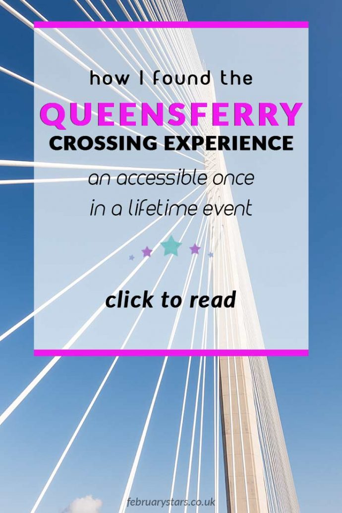 The Queensferry Crossing Experience was a once in a lifetime opportunity offered to 50,000 people. It was a full accessible event. Click to read my experience of pin to save for later.