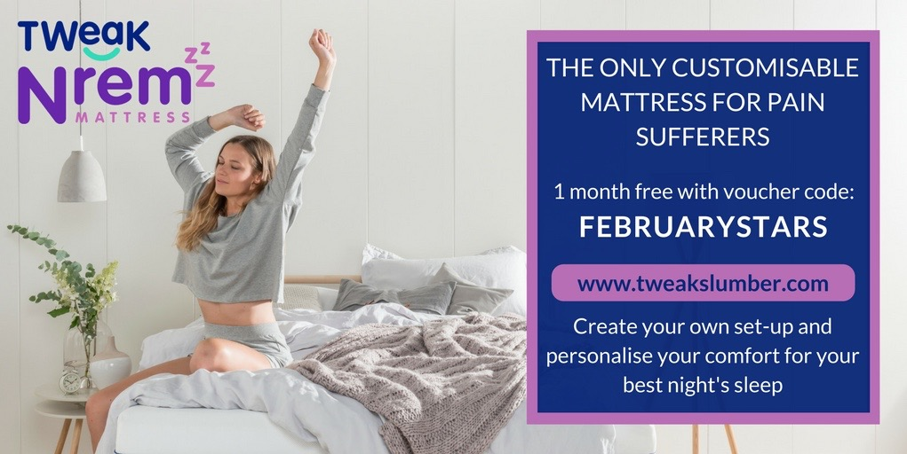N:REM adjustable mattress for chronic pain sufferers