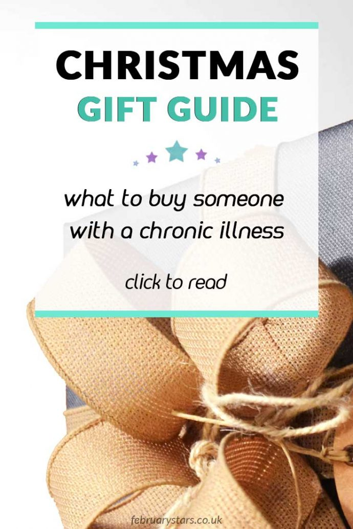 Read my chronic illness Christmas gift guide, with gift suggestions for people with Fibromyalgia, chronic pain, Lyme disease or chronic fatigue syndrome/M.E.