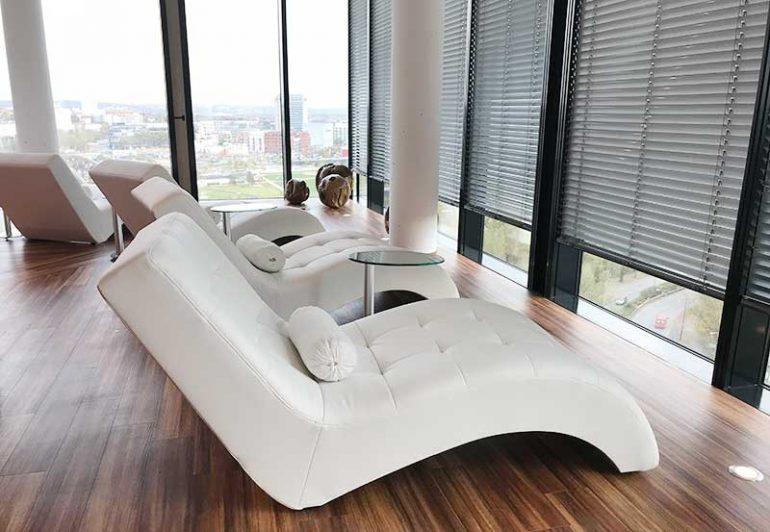 The IV treatment area at Infusio, Frankfurt