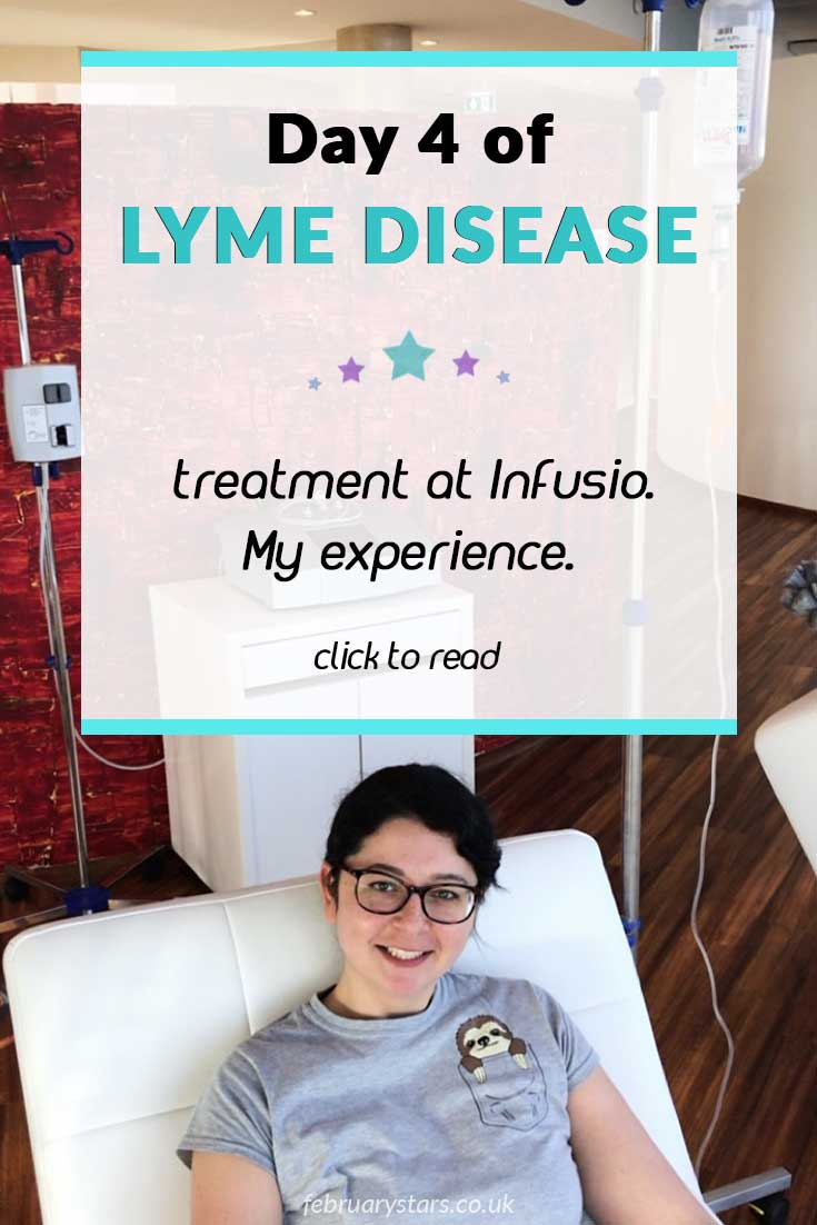 My fourth day of Lyme Disease treatment at Infusio, Frankfurt. Click to read or pin to save for later. #lymedisease #lymediseasetreatment #stemcelltherapy.