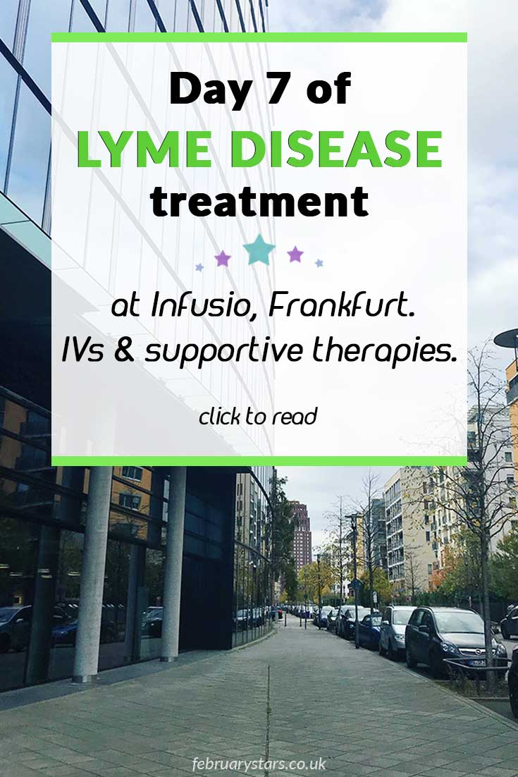 Day 7 of Lyme Disease treatment at Infusio, Frankfurt. Prepping for stem cell therapy. Click to read. #lymedisease #infusio #stemcelltherapy