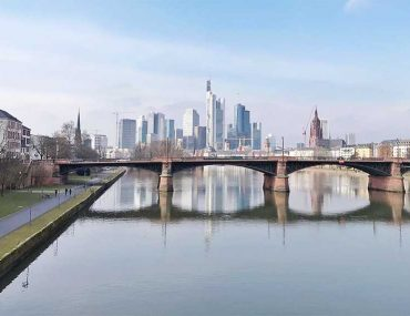 A view down the river looking at Frankfurt city on my way to my follow-up appointment at Infusio
