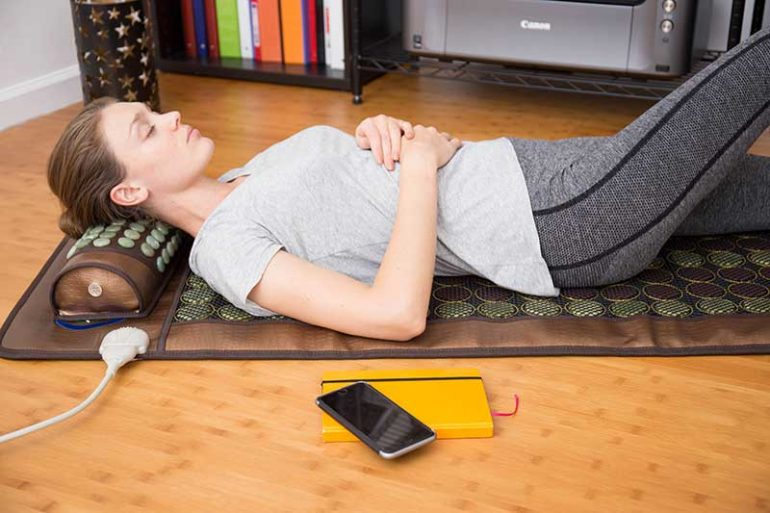 Healthy Lines offer far infrared mats that are helpful in managing symptoms of Fibromyalgia.
